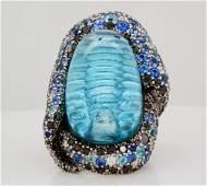 Vasari 5.50ctw Sapphire & Diamond Blue Topaz Ring