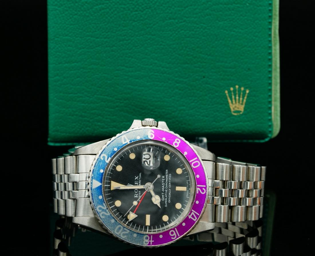 """Rolex 1967 GMT Master II """"Pink Panther"""" 40mm Watch"""