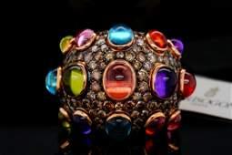 de Grisogono 14.75ctw Gemstone & 7.15ctw Diamond Ring