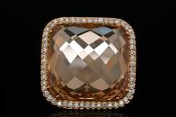 Roberto Coin 125ctw Diamond Smoky Quartz 18K Ring