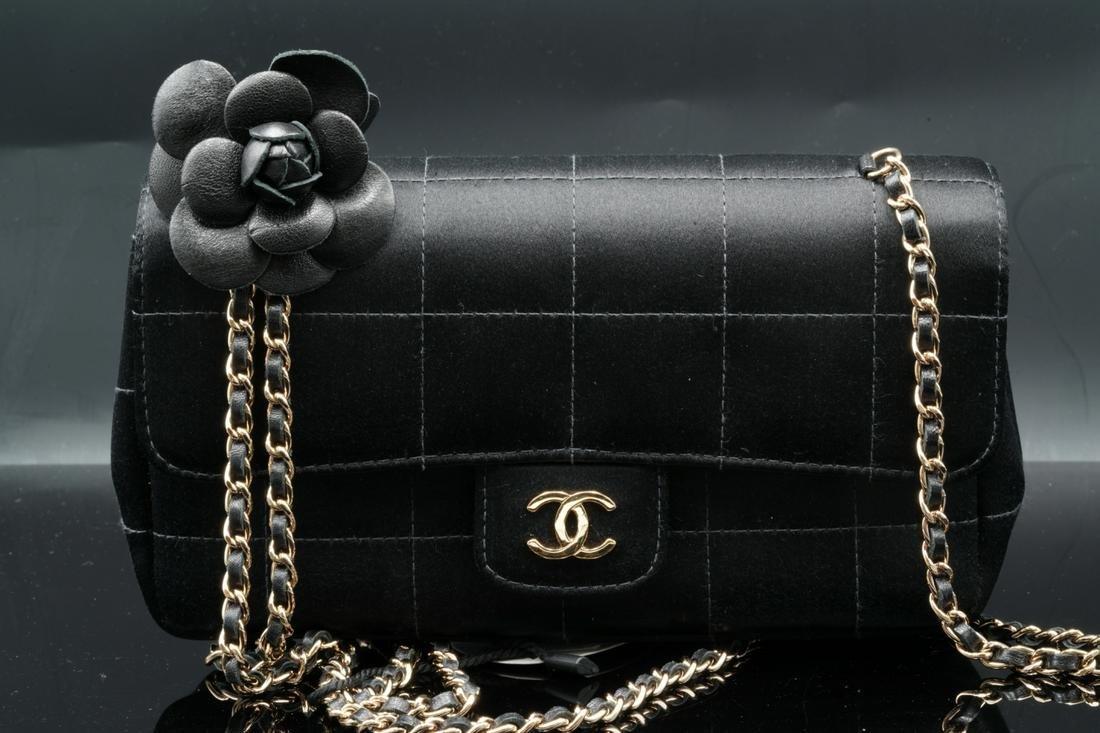 Chanel Silk Mini Camellia Classic Flap Shoulder Bag