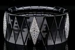 Roberto Demeglio 6.25ctw Diamond, 18K Ceramic Bracelet