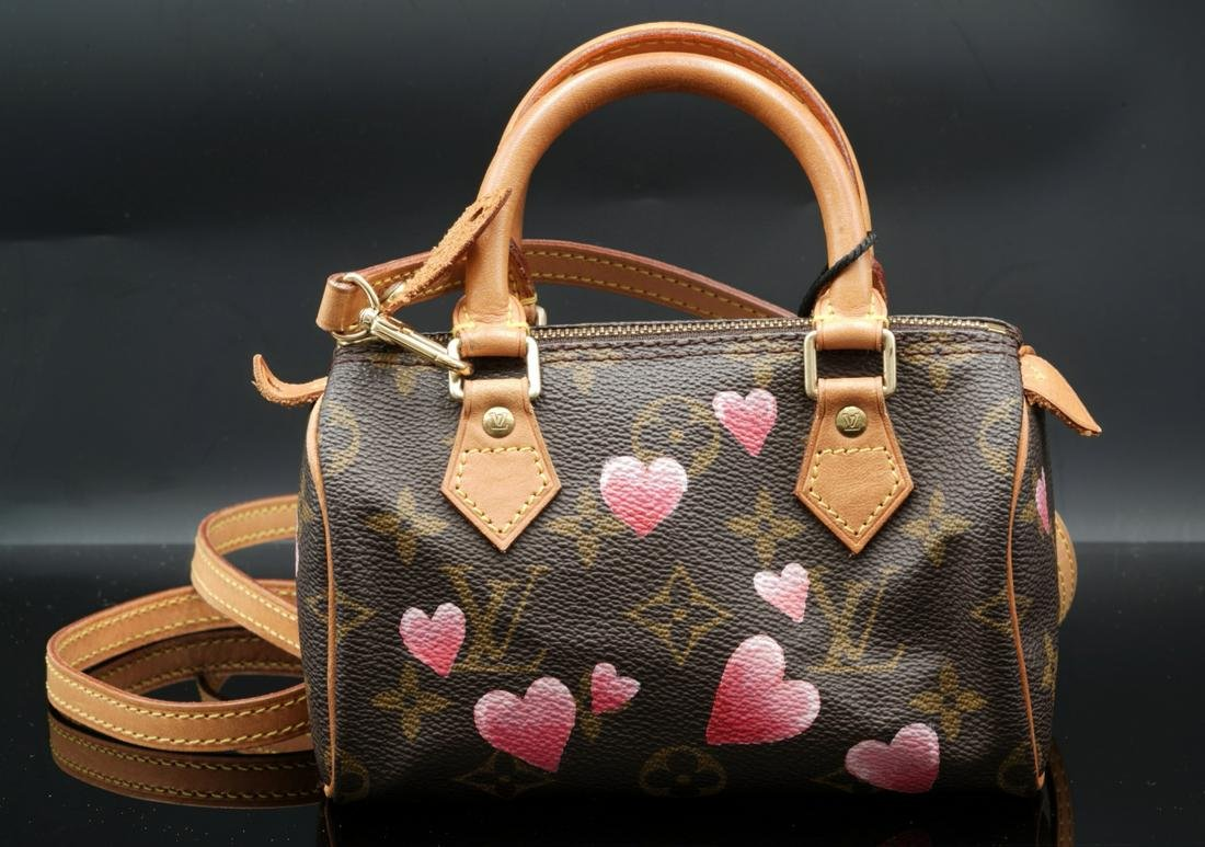 Louis Vuitton Custom Monogram Canvas Nano Speedy