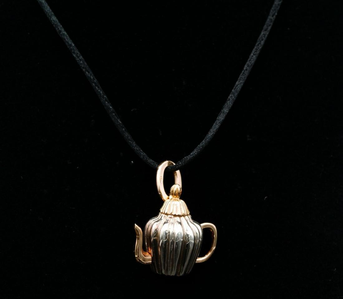 Pomellato 18K/Sterling Silver Teapot Cord Necklace