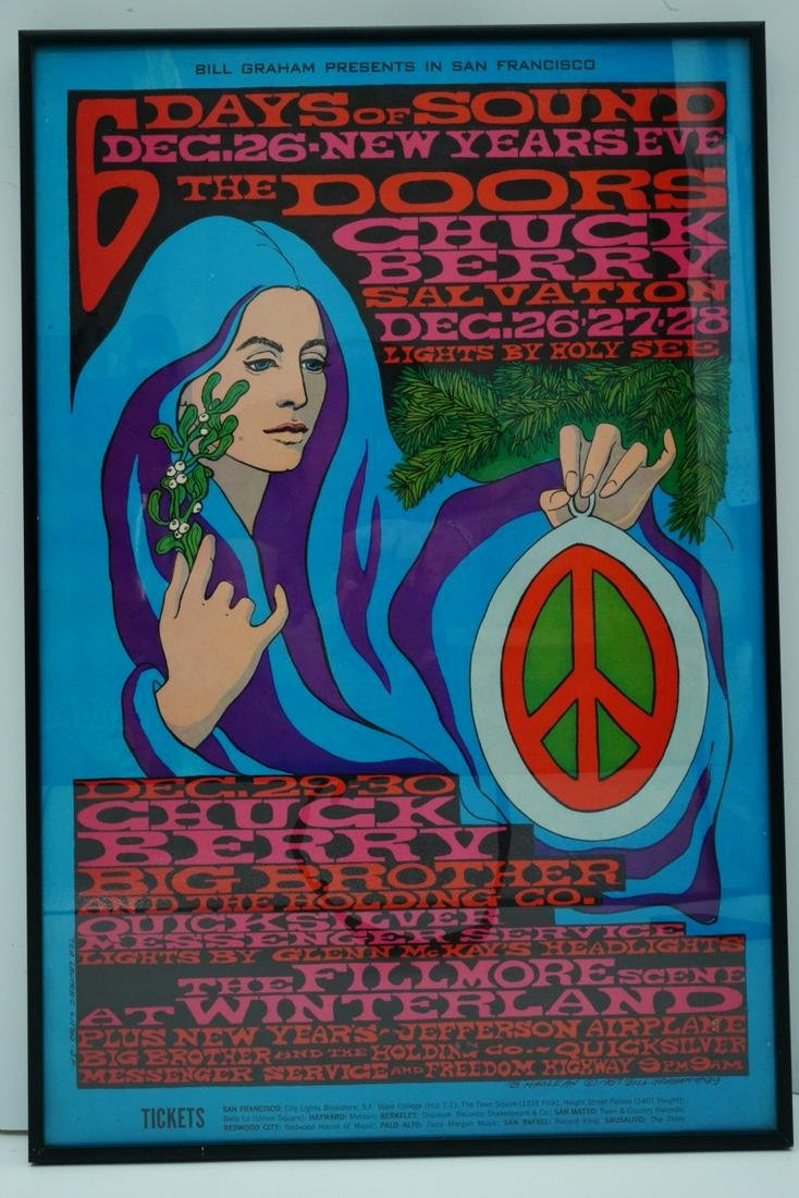 The Doors Rare First Printing December 1967 Poster