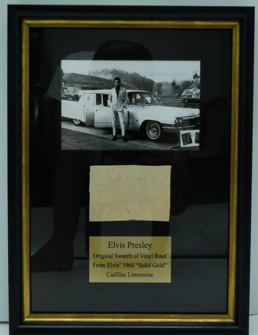 """Elvis Presley 1960 """"Solid Gold"""" Limo Roof Swatch"""