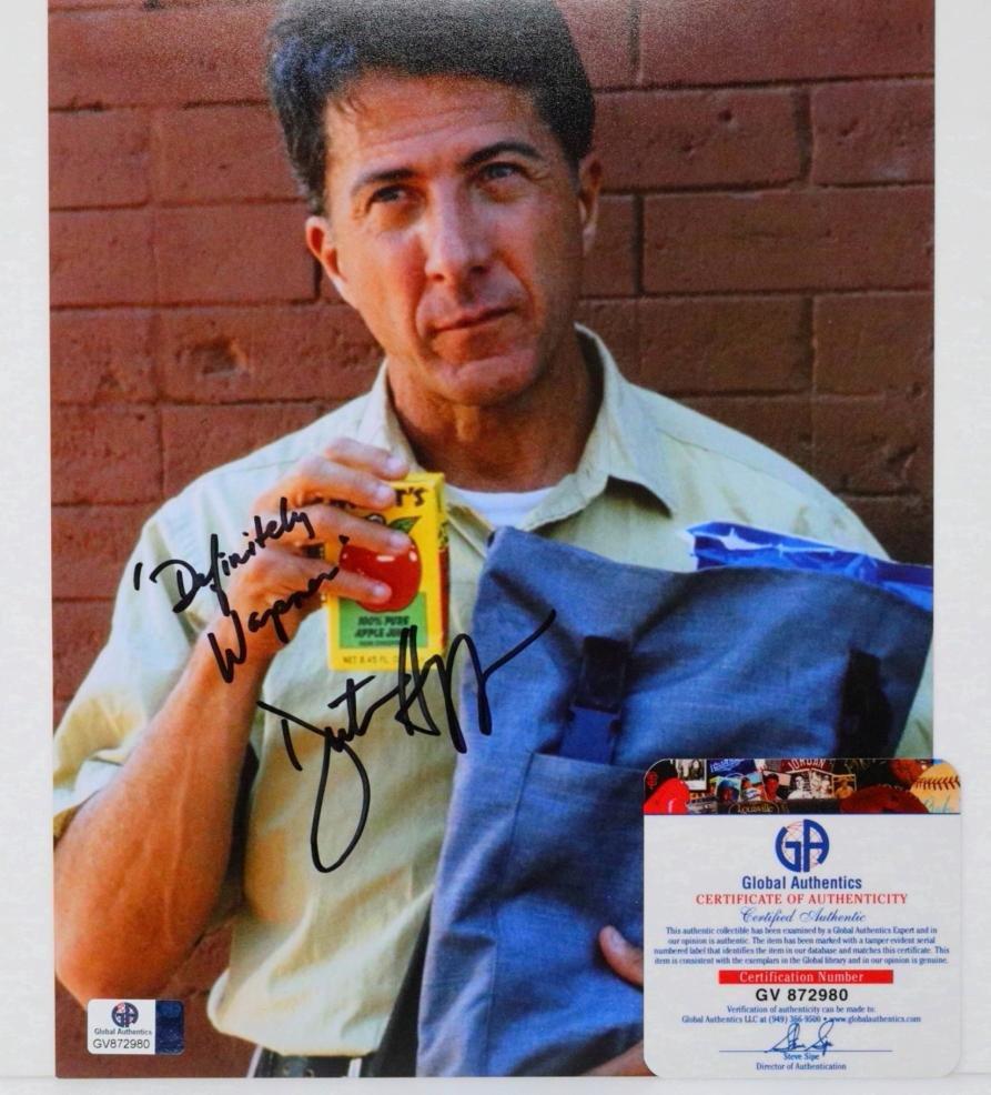 "Dustin Hoffman ""Rain Man"" Signed Photo W/COA"