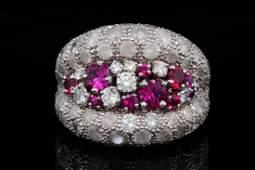 de Grisogono 4.50ctw Diamond, 1.25ctw Ruby & 18K Ring