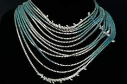 Stefan Hafner 27ctw Diamond & Multi-Gemstone Necklace