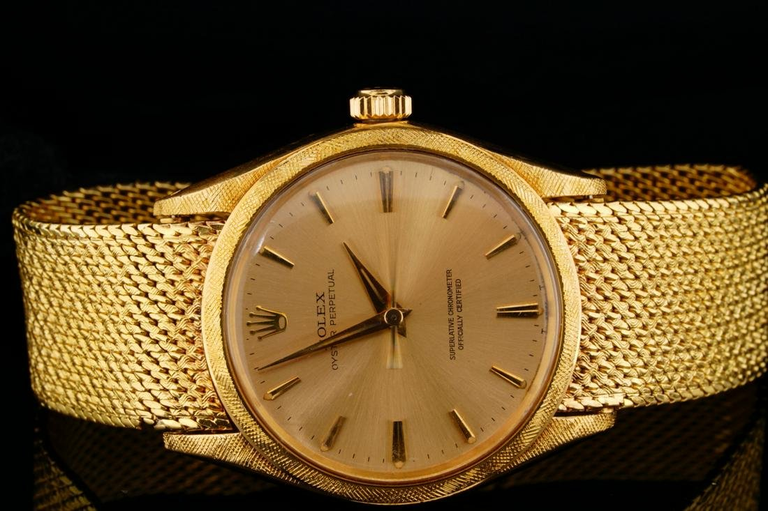 Rolex 1964 Oyster Perpetual 18K 34mm Watch (1022)