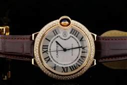 Cartier Ballon Bleu 42mm Diamond 18K Automatic Watch