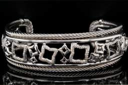 David Yurman Sterling Silver Bracelet WDiamonds