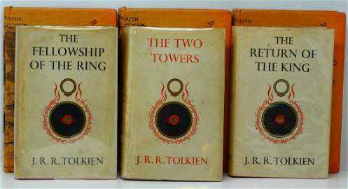 Tolkien; Lord of the Rings Three Volume UK 1st Ed.