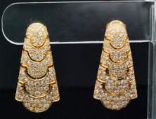 Cartier 5.50ctw VVS1-VVS2/E-F Diamond 18K Earrings