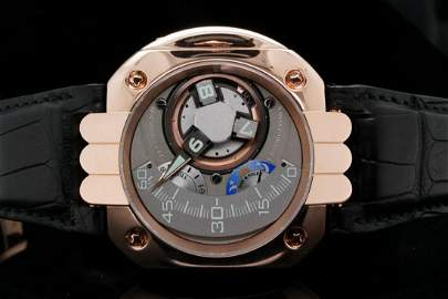 Harry Winston Opus 5 50mm 18K Rose Gold Watch #42/45