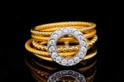 Carrera y Carrera Musica 0.20ctw Diamond 18K Ring