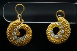 Tiffany  Co 070ctw Diamond 18KPlatinum Earrings