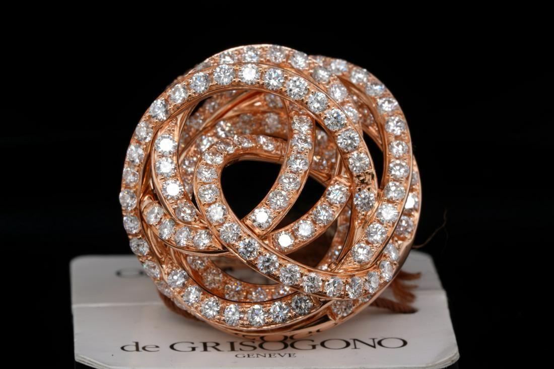 de Grisogono 3.13ctw VS1-VS2/F-G Diamond 18K Ring