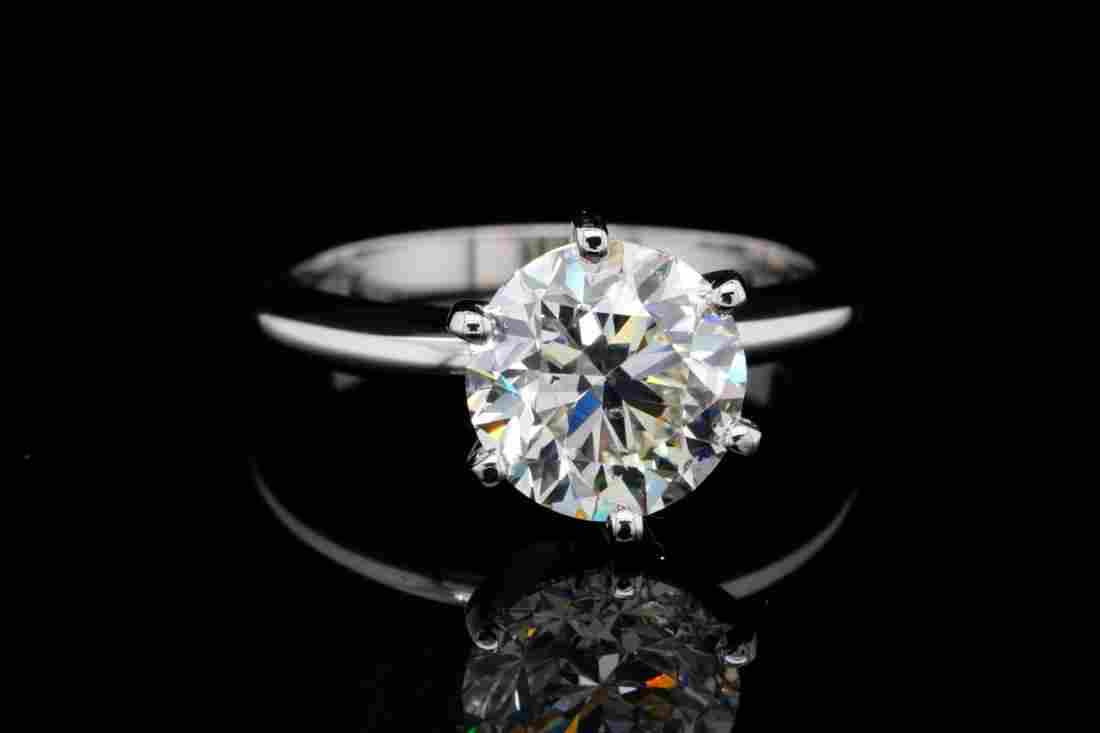 3.01ct GIA SI1/K No Fluorescence Diamond & 18K Ring