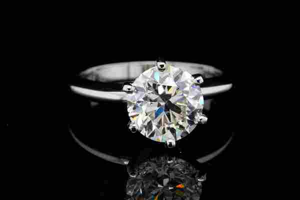 3.01ct GIA SI1/K No Fluorescence Diamond & 18K Ring