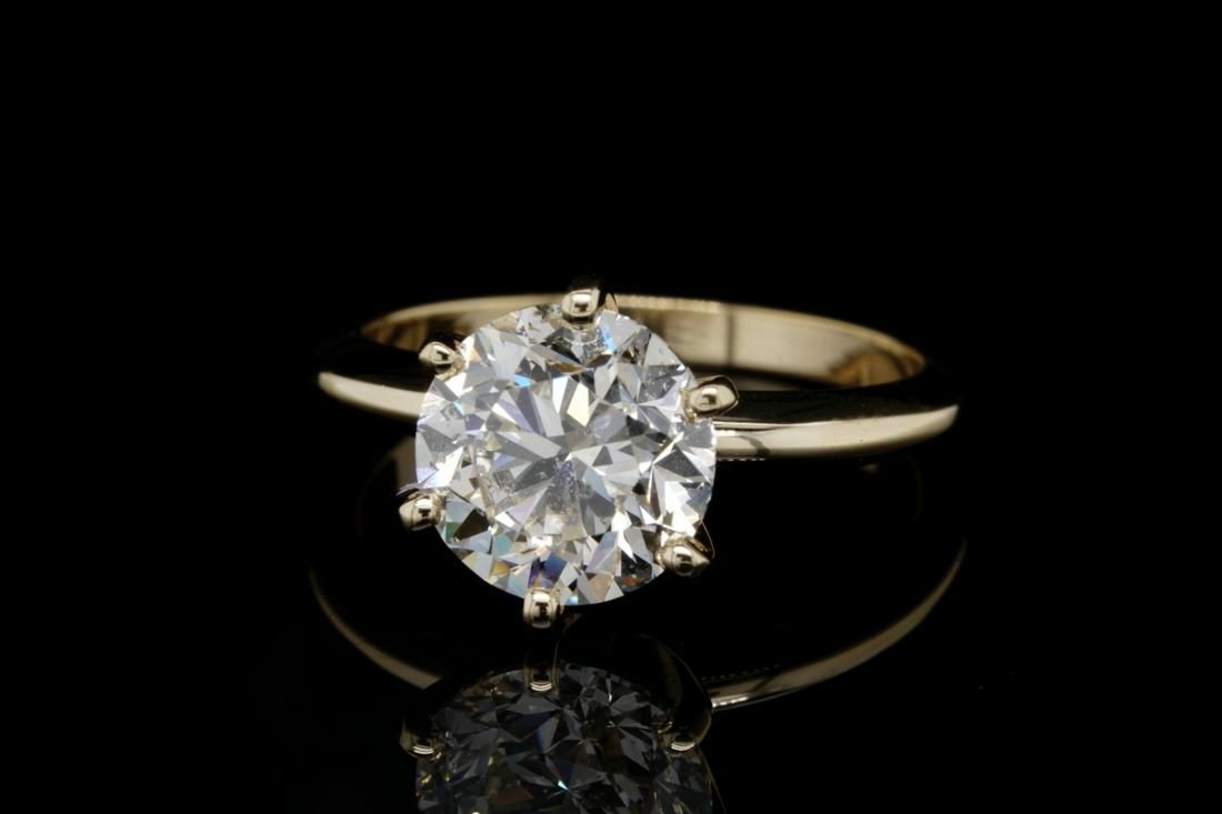 3.01ct GIA SI2/K No Fluorescence Diamond & 18K Ring
