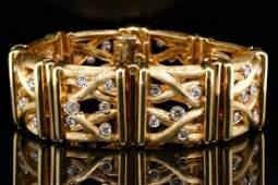 Henry Dunay 220ctw VVS2VS1FG Diamond 18K Bracelet
