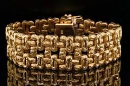 "Italian Solid 18K Yellow Gold 6.5"" Bracelet"