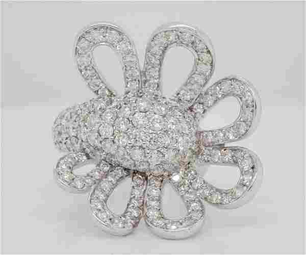 3.75ctw VS1-VS2/G-H Diamond 18K White Gold Ring