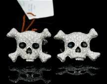 de Grisogono 3.50ctw Diamond, 18K & Enamel Cufflinks