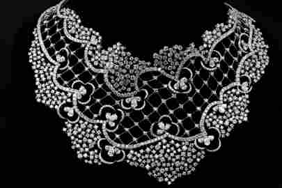 Stefan Hafner 68.50ctw VS Diamond 18K Bib Necklace
