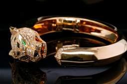 Cartier Panthere 4.33ctw Diamond 18K Cuff Bracelet