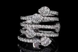 Odelia 1.75ctw VS1-VS2/G-H Diamond 18K Ring
