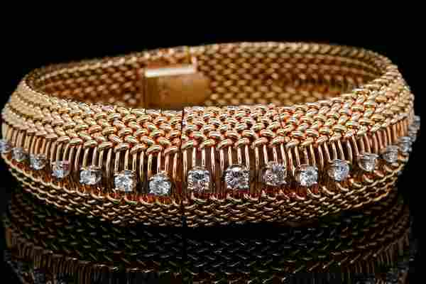Omega 1.50ctw Diamond & 14K Bracelet Watch