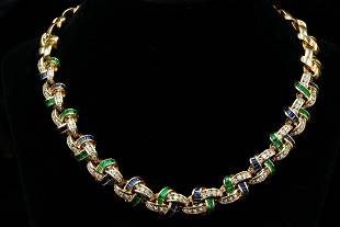 Charles Krypell 16.75ctw Multi-Gem & Diamond Necklace