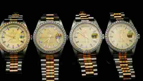 Rolex Day-Date Tridor (4) 18K String Dial Watches