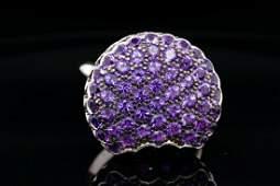 Boucheron 4.00ctw Amethyst & 18K Macaron Ring
