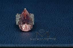 Mikimoto 23.23ct Morganite & 2.63ctw Diamond Ring