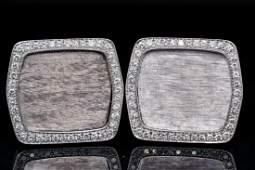 IWC 1.50ctw VS1-VS2/G-H Diamond 18K Cufflinks