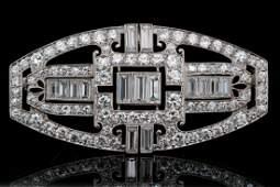 Tiffany & Co. 4.50ctw Diamond Platinum Brooch