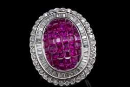 2.50ctw Ruby, 1.00ctw SI1-SI2/G-H Diamond 18K Ring