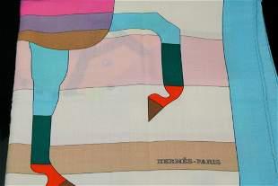 Hermes Rocabar Shawl 140 (70% Cashmere)