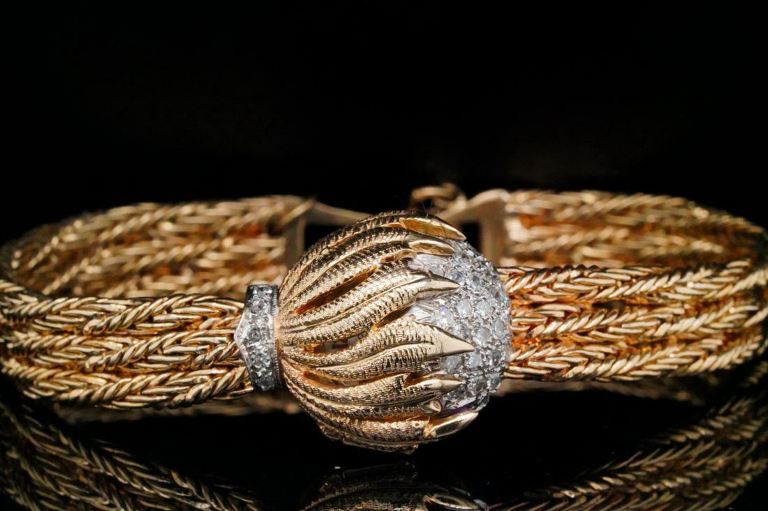 Eloga 0.75ctw Diamond 14K Bracelet Watch