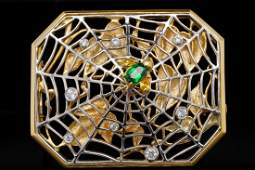 Bondanza 0.60ctw Diamond, Platinum/18K Spider Brooch
