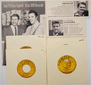 Elvis Presley (5) Sun 45s Signed by Sam Phillips