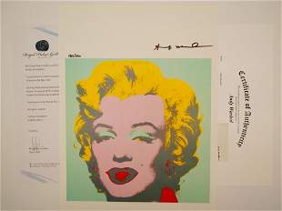 """Andy Warhol Signed 1986 """"MM 1967"""" Print #185/200"""