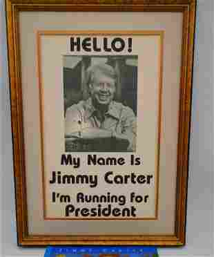 Jimmy Carter Signed Movie Prop Poster W/Signed Book
