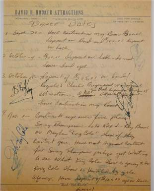 Carl Perkins, B.B. King, & Others Signed Contract