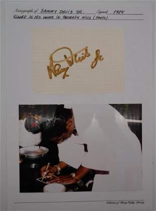 Sammy Davis Jr. Autographed Card W/Photo & COA