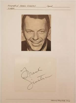 Frank Sinatra Autographed Card W/COA