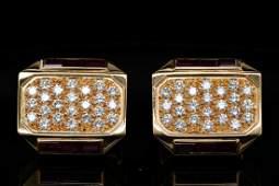 Sultan of Oman 3.50ctw Diamond & Ruby 18K Cufflinks